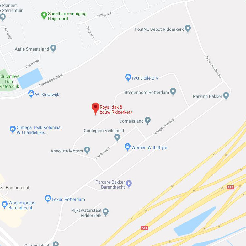 Routebeschrijving Royal dak & Bouw Ridderkerk