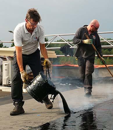 ECB dakbedekking bestand tegen neerslag met zetmeel