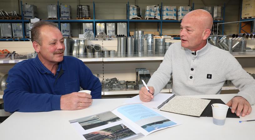 Koffie drinken met Marc van Royal dak & bouw Arnhem