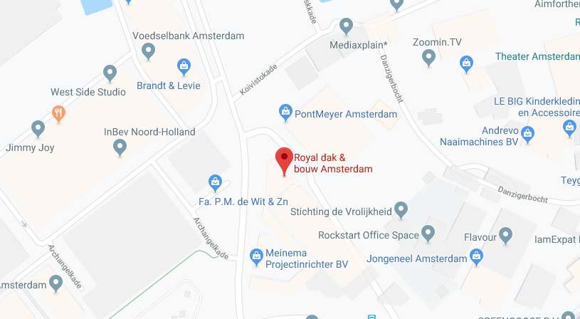 Royal dak & bouw Amsterdam | Adres:Rigakade 39-41, 1013 BB Amsterdam | Tel: 020 682 7999