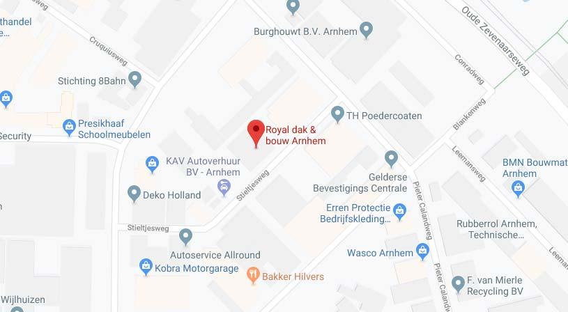 Royal dak & bouw Arnhem | Adres: 6827 BV Arnhem | Tel: 026 388 2040