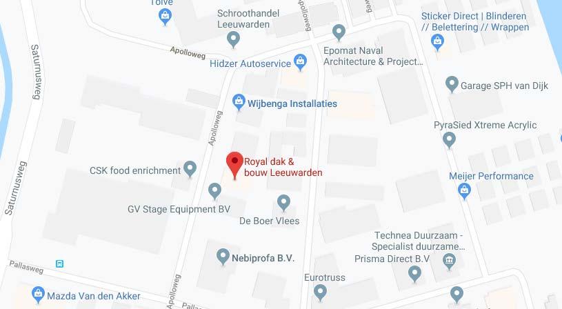 Royal dak & bouw Leeuwarden | Adres: Apolloweg 16A, 8938 AT Leeuwarden | Tel: 058 284 9900