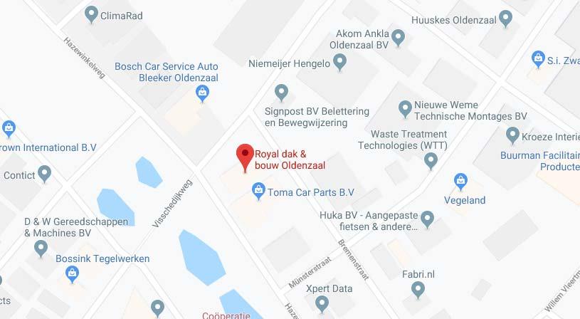 Royal dak & bouw Oldenzaal | Adres: Hamburgstraat 15, 7575 EG Oldenzaal | Tel: 0541 573 000