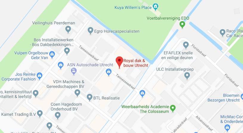 Royal dak & bouw Utrecht | Adres: Tennesseedreef 28, 3565 CJ Utrecht |Tel: 030 261 5885